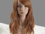 美丝优发 欧美流行挑染蓬松女式长卷发 金棕色假发