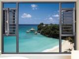 西安南沐隔音门窗-130系列断桥窗纱一体平开窗