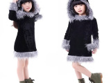 儿童万圣节角色扮演服少儿写真服 六一黑色浣熊装节舞台表演服 舞