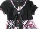女生最爱 韩版可爱娃娃装 花边领 蕾丝雪纺上衣
