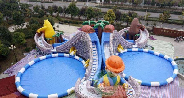 浪里个浪 大闹龙宫充气城堡大气包 冰雪世界移动水上乐园水滑梯