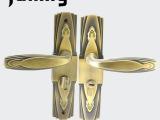 H29AB欧式卧室门锁青古 防盗铜弹珠锁芯门锁 高档办公门锁室内