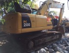 新到工地机器小松200-8挖掘机二手小松200挖掘机
