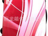 旅行箱厂家促销 幻彩红abs拉杆箱批发 18寸万向轮女性时尚行李