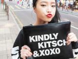韩国XOXO时装女包 简约时尚字母单肩手拿 信封包 ipad包手