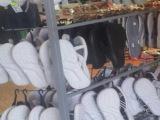 博纳 金属背网拖鞋挂架,订制鞋类展示架,皮带架,厂家直销