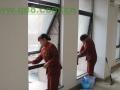 长乐新房开荒做卫生,洗玻璃。