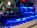 海鲜池定做海鲜鱼缸制冷机 酒店镶嵌式生态鱼缸定制
