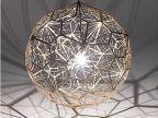 铭星不锈钢金属多边形钻石球吊灯网格艺术高档设计师灯