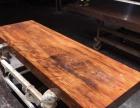 奥坎乌金木办公桌餐桌椅茶台茶桌整木巴花大板实木大板桌原木红木