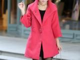 2013新款女装秋冬修身双排扣斗篷式立领毛呢外套羊毛呢子大衣82