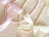 韩国儿童饰品2014春夏新款 女童百搭蕾丝蝴蝶结珍珠项链 配纱裙