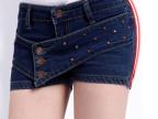 2014新款牛仔女裤春夏 韩版潮 性感显瘦牛仔裤超短热裤排扣