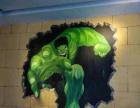 邢台墙体手绘3d墙绘 风景-涂鸦 彩绘 文化墙艺