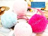 厂家供应日版/韩版10CM兔毛球、狐狸毛球、兔毛花、超大毛球