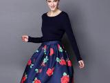 厂家直销现货女装批发网店代理欧美品牌女式两件套秋冬针织毛衣