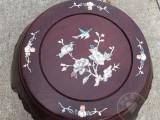 古筝圆凳贝雕水移画古筝凳子彩贝贴花实木古筝凳水移画贴纸