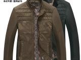 秋季新款男式商务夹克中老年夹克外套品牌男装夹克男式拼接外套