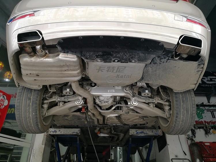 成都宝马530Le混动改装双边排气管高清图片