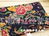 棉麻印花布料服装民族风中国风东北大花布凤