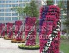 大型节日庆典工程广场花柱圆柱绿化 道路灯杆绿化花盆