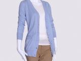 2013秋季女装新品韩版毛衣开衫批发v领纯棉修身显瘦女士毛衫外套
