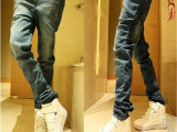 春夏男士牛仔裤男薄款裤子修身款小脚直筒夏季韩版男裤学生长裤潮