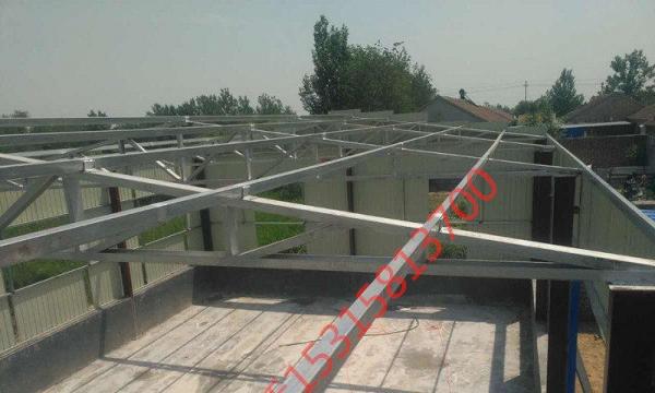 详情描述 制作安装钢结构,楼顶房顶漏雨铺彩钢瓦,搭大门洞,雨罩,棚子