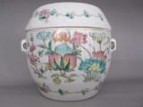 粉彩花卉盖罐私下交易哪有专家