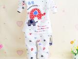 厂家直销2015新款童装 长袖韩版卡通纯棉男童女童睡衣秋装童套装