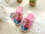 外贸出口原单儿童拖鞋 冰雪奇缘女童 室内