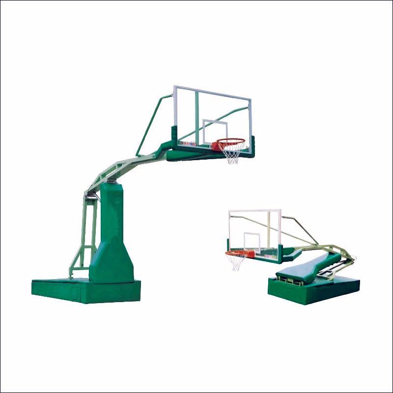 海珠手动液压篮球架 篮球架安装 篮球场配套设施