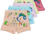 儿童内衣裤 莫代尔女童内裤卡通图案女童平角裤中小童内裤批发