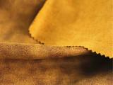 直销 秋冬款麂皮肌理印花反面磨毛面料 维