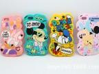 直销 新款迪士尼 苹果iPhone5S 硅胶手机套保护壳 米奇米妮情侣