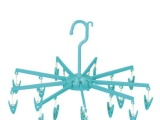 塑料18头伞衣晒衣架多功能裤夹晾衣夹裤架毛巾夹袜夹家用夹批发