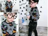 韩版宝宝卫衣绒16冬季新款童装男童绒休闲