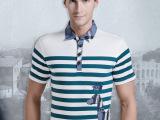 夏利玛|2015新品条纹t恤男士 t恤夏男短袖潮 男士个性t恤欧