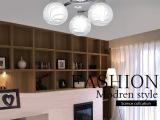 LED卧室灯吸顶灯艺术客厅灯具玻璃铝材现代简约时尚温馨灯饰