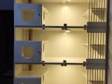 實木貓柜籠貓窩貓屋貓別墅籠玻璃雙面展示貓舍專用籠定制雙面籠