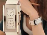 正品百迪皮带女表韩版时尚个性女士手表水钻时装石英腕表一件代发