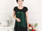 厂家直销中老年妈妈装韩版连衣裙女装夏装大码短袖雪纺裙子批发