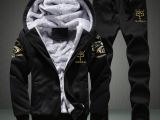 男士运动套装秋冬大码加绒加厚运动服男冬季