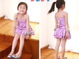 童装外贸童装批发-原单欧美女童纯棉吊带裙-精品童裙