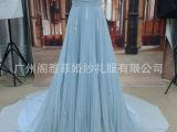 2014年奥斯卡礼服 肩带深V领裙 厂家直销 出口外销 量身定制