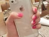 最新iPhone5升级版镶钻边框 手机壳 苹果4代 贴钻石水钻塑