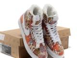 专柜品质秋冬耐克板鞋高帮开拓者加绒保暖棉