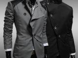 外贸批发春秋新款韩版时尚西装 英伦风商务小西装 男休闲西服外套