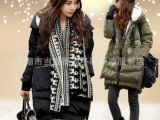 韩版新款品牌冬装反季 军工装加厚羽绒服中长款女 正品特价清仓潮