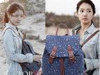 韩版女包继承者们朴信惠星星双背包包明星同款双肩背旅行休闲书包